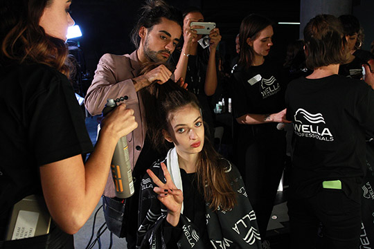 SYDNEY, AUSTRALIA - MAY 15: A model prepares backstage ahead of the Mercedes-Benz Presents Maticevski show at Mercedes-Benz Fashion Week Resort 17 Collections at The Cutaway, Barangaroo Reserve on May 15, 2016 in Sydney, Australia. (Photo by Lisa Maree Williams/Getty Images)