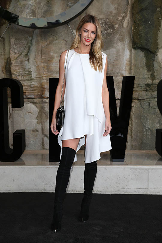 SYDNEY, AUSTRALIA - MAY 15: Jennifer Hawkins attends the Mercedes-Benz Presents Maticevski show at Mercedes-Benz Fashion Week Resort 17 Collections at The Cutaway, Barangaroo Reserve on May 15, 2016 in Sydney, Australia. (Photo by Caroline McCredie/Getty Images) *** Local Caption *** Jennifer Hawkins